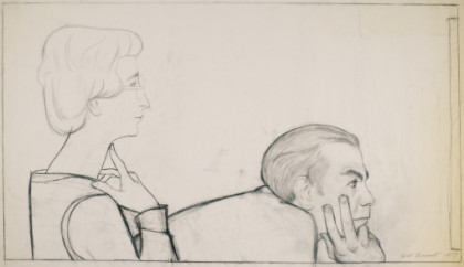 Study for the Vogels (Herb with hands on chin)