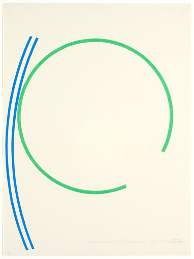 Green Incomplete Neon Circle with 2 Blue Lines