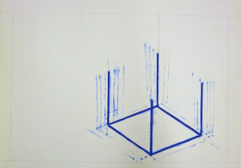 Incomplete Cube Inside Corner Neon [three of six]