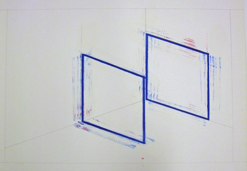 Incomplete Cube Inside Corner Neon [two of six]